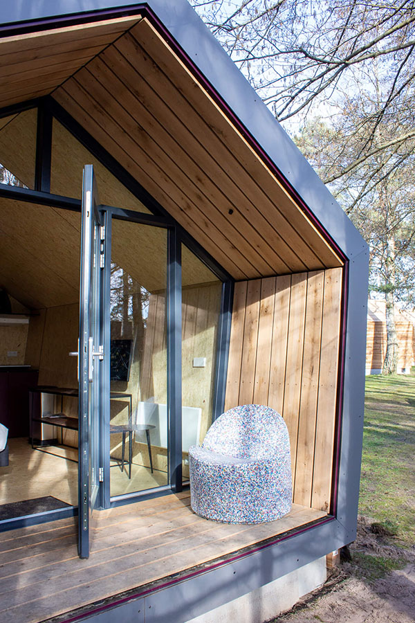 Schuin vooraanzicht Tiny House - Diamond Suite